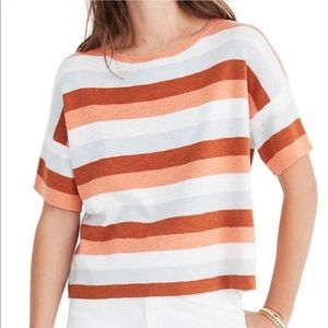 Madewell Boxy Sweater Tee in Maggie Stripe Sz Med